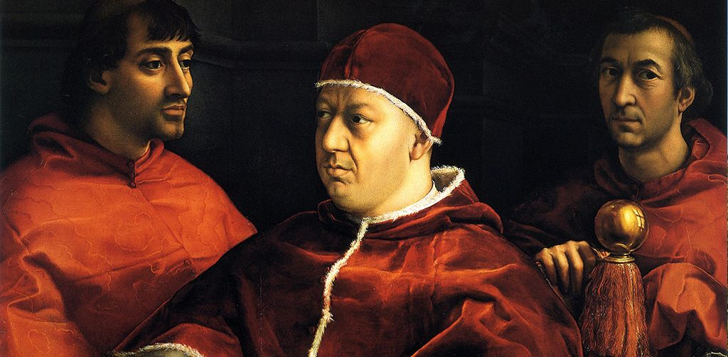 a look at raphaels portraits of his great patron pope leo x of the medici family Three important works by raphael from this same period include a self-portrait (ca 1506), his charming virgin mary with the goldfinch, and pope leo x with the cardinals giulio de' medici and luigi de'rossi.